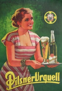 Pilsner Urquell was the first pilsner beer in the world.Photo courtesy of barclayperkins.blogspot.cz.