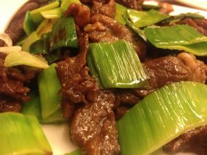 Stir-fry beef with green onions is a popular favorite. Photo by Kristin Curtis