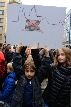 Perhaps reflecting their parents' sentiments, children showed their disdain for President Zeman, the current resident of Prague Castle.