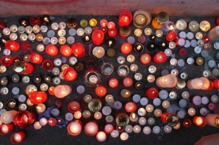 The events of 1989 were not utterly forgotten amid the current political protests. Hundreds of candles were placed at Narodni Trida, marking the spot where students were attacked by police, an incident that was the beginning of the end of the communist dictatorship.