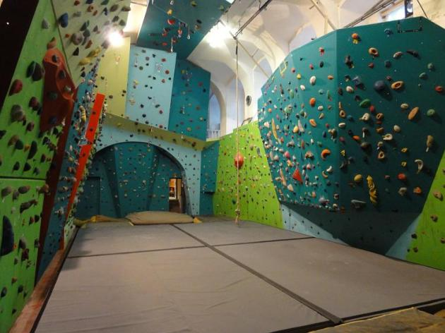 In the bouldering room at UltraAnt Club has a total area of 2,152 sq feet to climb. Photo courtesy of UltraAnt Club.