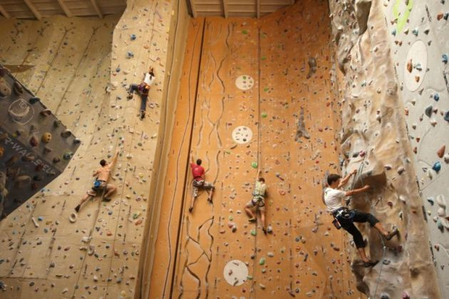 With walls 50 feet tall and a wide range of wall profiles, there's something for every level of climber. Photo courtesy of Lezecke Centrum Smichoff.