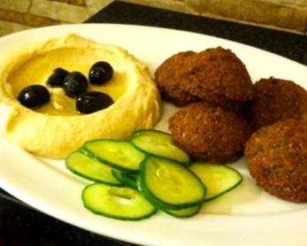 The falafel at Jordan's Fast Food. Courtesy of Mariah Mendelez.